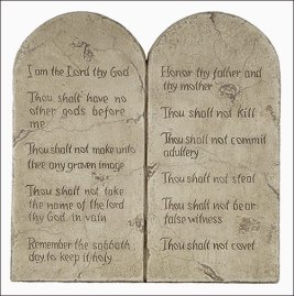 "Read the list of 10 Commandments closely. As you can clearly see, none of them actually says ""Thou shall not bring a concealed gun into the House of Lord""."