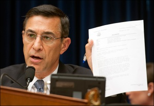 House Oversight and Government Reform Chairman Darrell Issa, who is heading the congressional investigation, is showing the official letter from the Publisher Clearing House sweepstakes as a proof that he may have already won his case.
