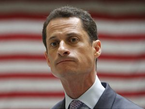 Anthony Weiner upon hearing the news of the @weinerzwiener Twitter account.  He expressed his outrage by accidentally tweeting another profile photo for the account.