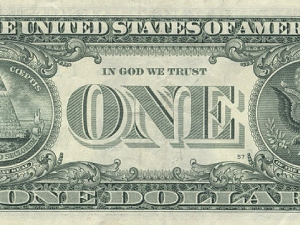 In reality, corporations have found God long time ago. There He is, right on the money.