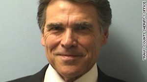 Rick Perry in the most presidential-looking mugshot ever. Image source: CNN